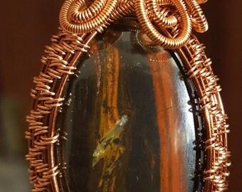 Red tiger eye pendant