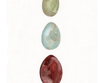 Fresh Eggs-Original Watercolor