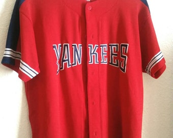 Vintage New York Yankees Jersey Baseball Shirt Sports Memorabilia Mens Gift Teen Boy Fan