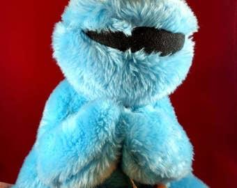 Vintage Cookie Monster Hasbro Softie, 1985, Eyes that rattle,