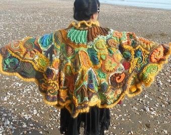 Freeform Crochet Poncho