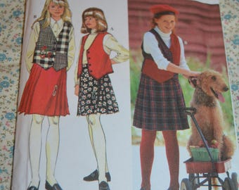 Simplicity 9148 Girls and Chubbies Skirt and Vest Sewing Pattern - UNCUT  - Size 7 8 10 12 14 or Size 8 1/2 - 16 1/2