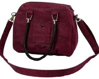 LeKo-design-sportliche bowling bag, shoulder bag, Cork bag, shoulder bag made of Cork fabric