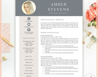 Creative Resume Template, CV Template for MS Word, Professional Resume, Modern Resume Design, Resume Instant Download, Buy One Get One Free