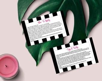 Black & White Stripes Glamour SeneGence Card // How To Apply // Tips and Tricks