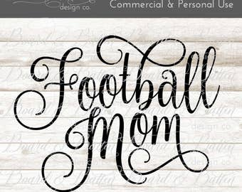 Football Mom SVG - football svg - sports svg football cuttable file - silhouette cut file - svg sports dxf files - sports mom svg files