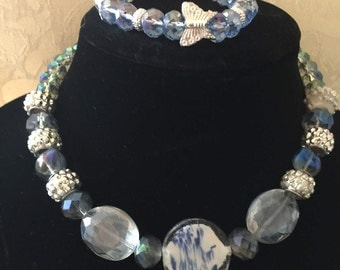 """Necklace and Bracelet set from my """"Butterfly Collection"""""""
