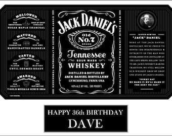Jack Daniels style edible cake topper