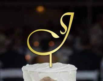 Letter J Cake Topper, Sign Letter Cake Topper, Cake Topper Letter, Initial Cake Topper, Letter Cake Topper, Monogram Cake Topper j, CT#032