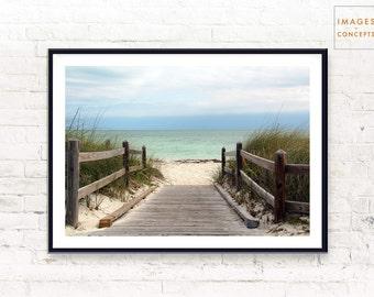 Beach Print ~ Coastal Art ~ Beach Home Decor ~ Fine Art Photography ~ Modern Wall Art ~ Large Printable Poster ~ Digital Download ~ Wall Art