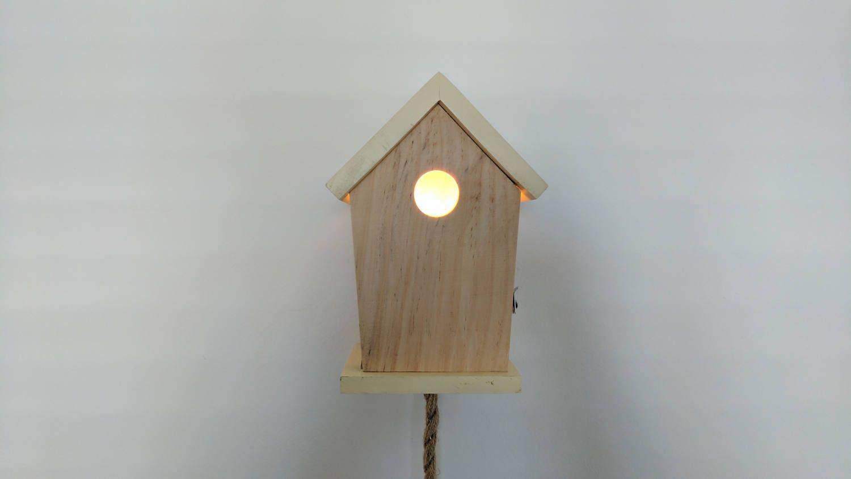 Nice handmade bird house night light led - Birdhouse nightlight ...