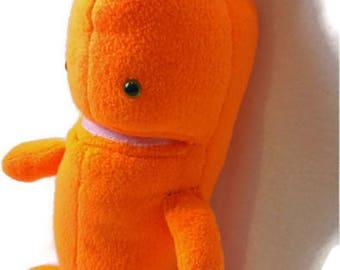 Big carrot plush - Stuffed carrot Toy, Baby Toy, kids toy, Orange Plush toy, Wildstar plushie, gamer merch,