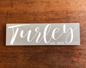 Family Established Sign, Family Established Wood Signs, New Home Housewarming Gift, Anniversary Gift, Wedding Gift, Last Name Sign,