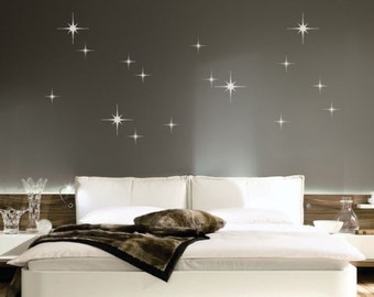 Star Wall Decals • Sparkle Wall Decals • Star Burst Wall Decals • Children's Wall Decals • Girls Bedroom • Nursery Wall Decals