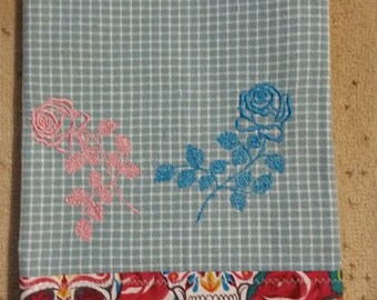 Roses and Skulls Towel