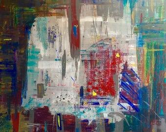 Abstract modern art on canvas