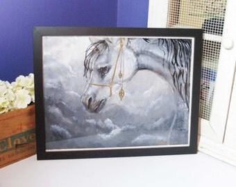 Arabian Horse original acrylic painting