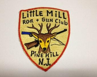 Vintage Little Mill Rod & Gun Club Patch Pineville New Jersey Gun Club