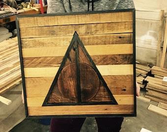 Deathly Hallows Wood Art