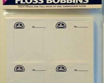 DMC Easy Wind Floss Bobbins Pack of 56 Cardboard Bobbins | USA|