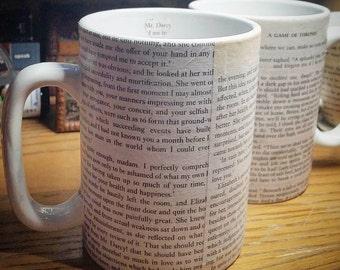 Book Page Mug