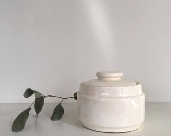Lidded White Sugar Bowl