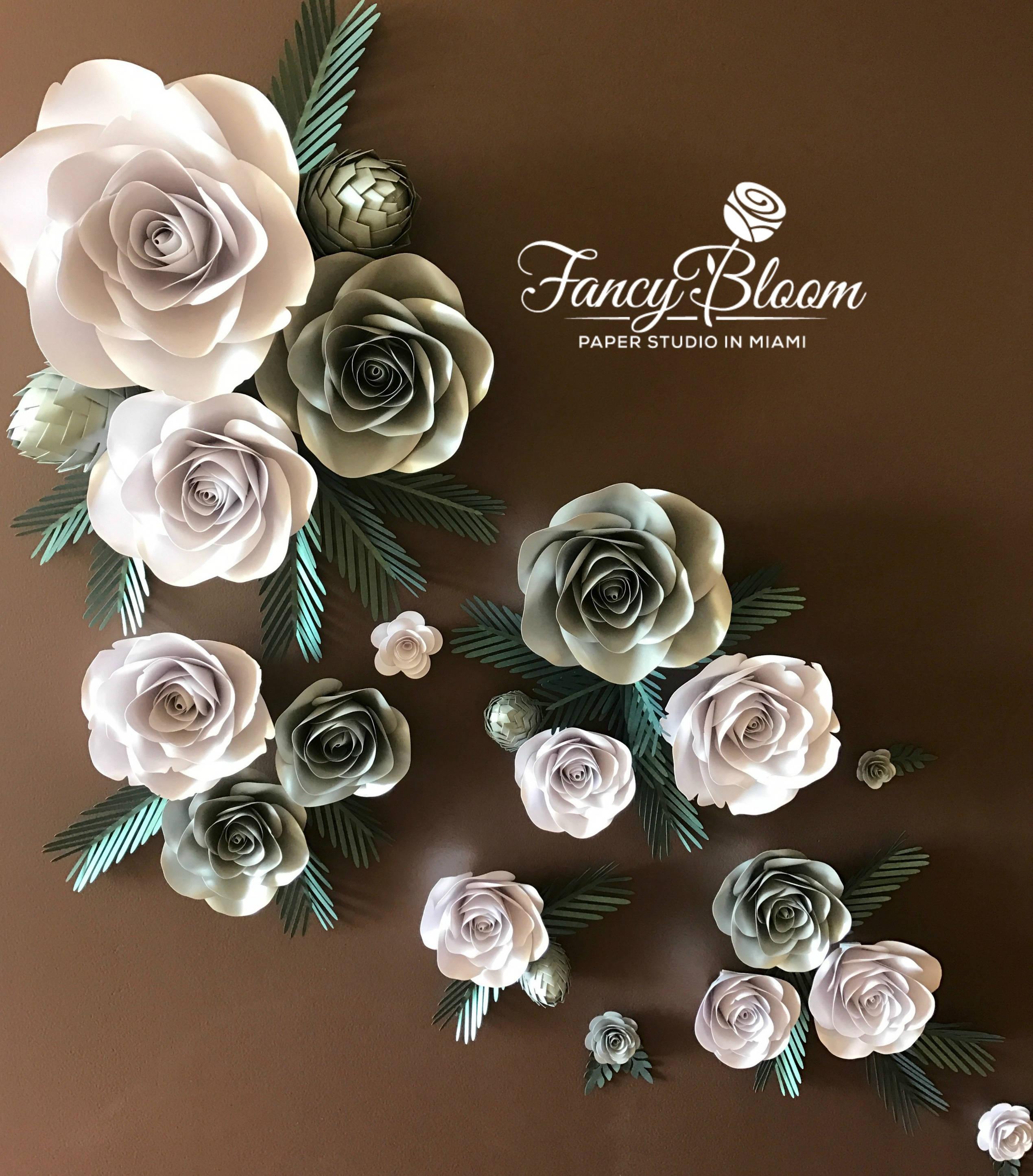 Flower Backdrop Paper Flower Backdrop Wedding Backdrop Roses