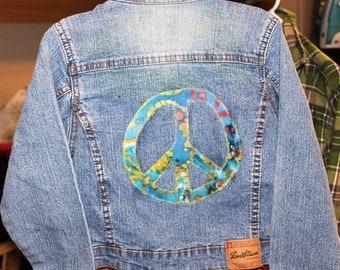 Upcycled Girl's Denim Jacket