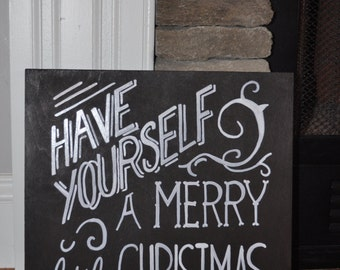 Have Yourself A Merry Little Christmas, Christmas Signs, Christmas Wooden Signs, Wooden Signs, Rustic Signs