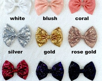 Sequence Bows - **DRESS NOT INCLUDED** Flower Girl Bridesmaid Wedding Birthday Graduation Baptism Pageant Toddler Junior Infant Newborn Baby