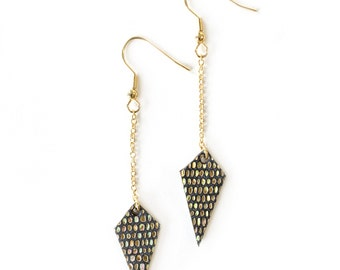 Gold noisy leather earrings - the exclusive collection _ Bling Bling _ Noizy earrings gold