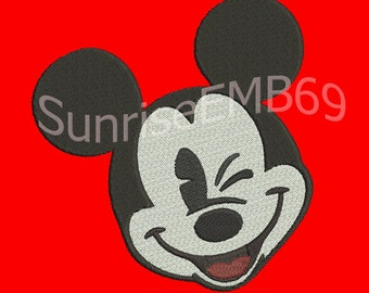 7 Sizes**Mickey Mouse Embroidery design- 8 formats machine embroidery design - Instant Download machine embroidery pattern