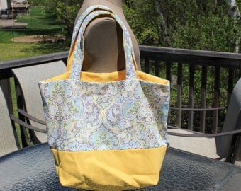 Homemade Tote Bag Two Toned