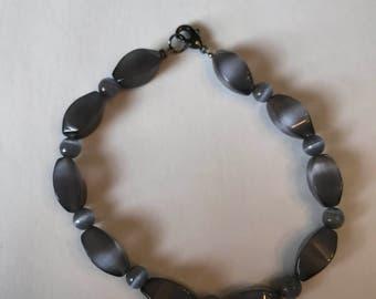 Grey Catseye Bracelet