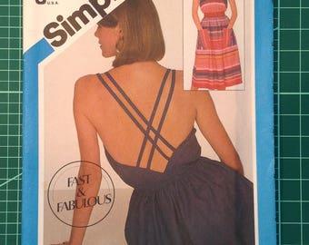 Vintage Uncut Sewing Pattern - Simplicity 6391 Misses' pullover dress.