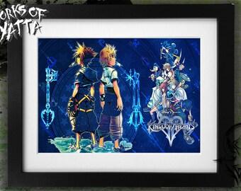 Kingdom Hearts 2 Sora Roxas Art Print