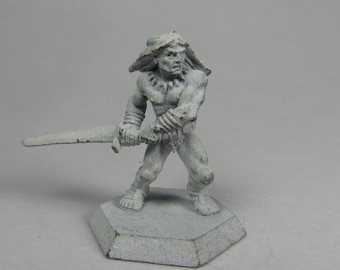 Dungeons and Dragons Miniature - DND - Limited Edition Barbarian - Unpainted - Vintage - Role Playing - RPG - Miniature - Dungeon and Dragon