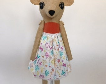 "15"" Pixie Fawn Cloth Doll (suede)"