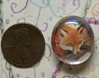 Red Fox Postage Stamp Magnet Art