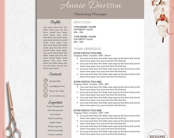 Sample High School Resume Excel Resume Template Word  Etsy Beautiful Resume Templates Word with Nanny Resume Pdf Resume For Word Resume Template Word Modern Resume Simple Resume  Professional Resume Downloadable Resume Templates Pdf