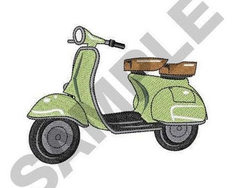 Motor Scooter - Machine Embroidery Design