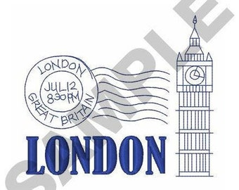 Travel London - Machine Embroidery Design