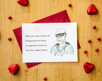 Social Justice, Valentine's Day Card, For Her or Him, Hipster, SJW, Funny, Politics, Binary