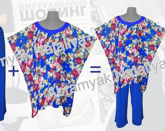 African tunics plus size Royal blue african tunics plus sizeRoyal blue women's pants suitsChiffon tunics with red rose plus sizeLoose tunics