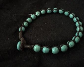 Blue Howlite Turquoise Onyx Bracelet
