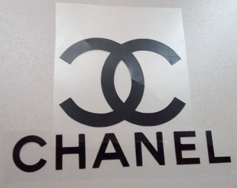 DIY iron on Chanel decals, cc logo