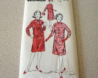 """Vintage 1960's Ladies Suit Sewing Pattern Bust Size 34"""" - Woman Uncut Pattern no W434"""
