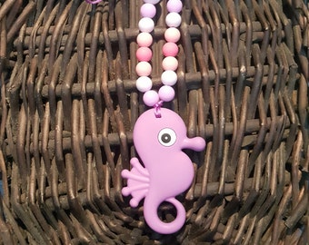 Silicone Seahorse Teething Necklace