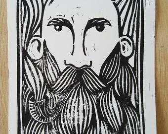 The Warden Block Print