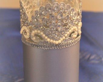 Silver color wedding centerpiece, party decorations, flower vase , Indian party decor, Moroccan, Bohemian centerpieces, Indian decorations